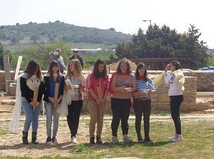 field teaching in ancient theatre of demetrias 2