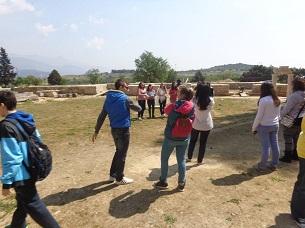 field teaching in ancient theatre of demetrias 3