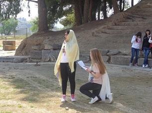 field teaching in ancient theatre of demetrias 4