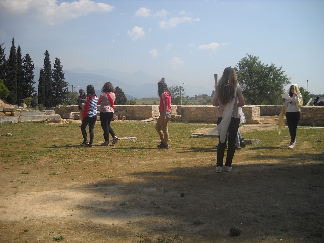 field teaching in ancient theatre of demetrias 6